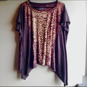 All Saints Python bleached top oversized read